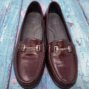 SAS Loafer Wine Burgundy Tripad Slip On Shoes 7.5
